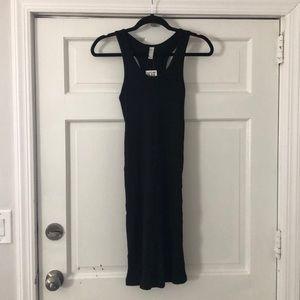 American Apparel Black Ribbed Racerback Dress XL